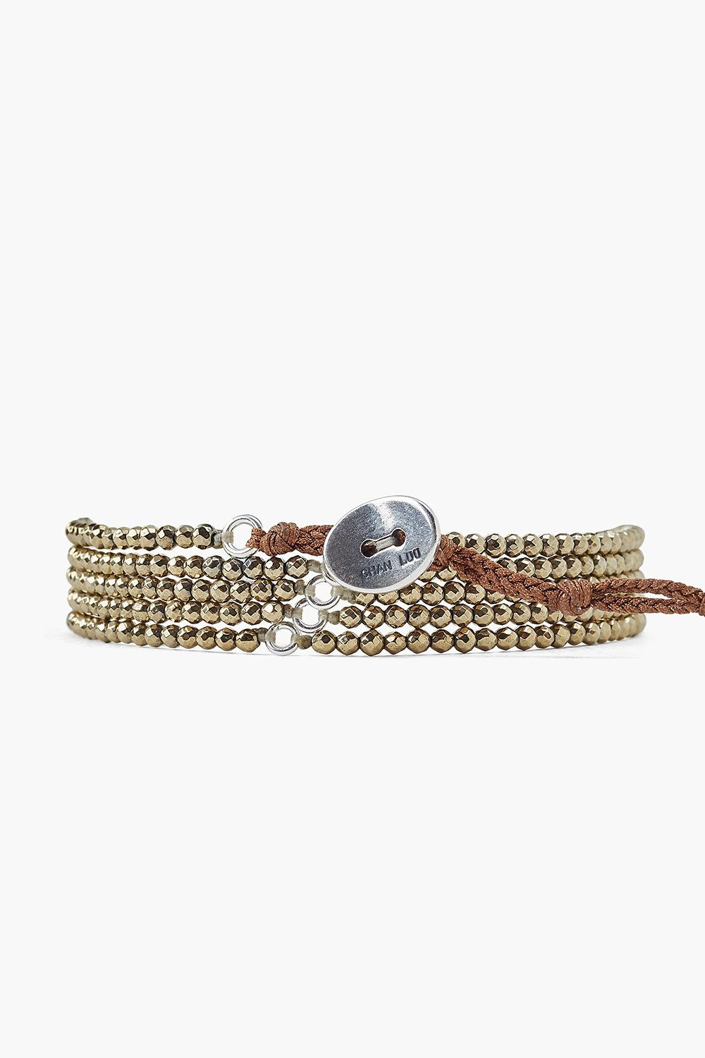 Pyrite Naked Five Wrap Bracelet