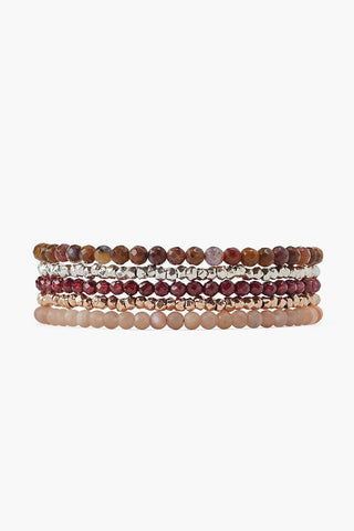 Garnet Mix Naked Five Wrap Bracelet