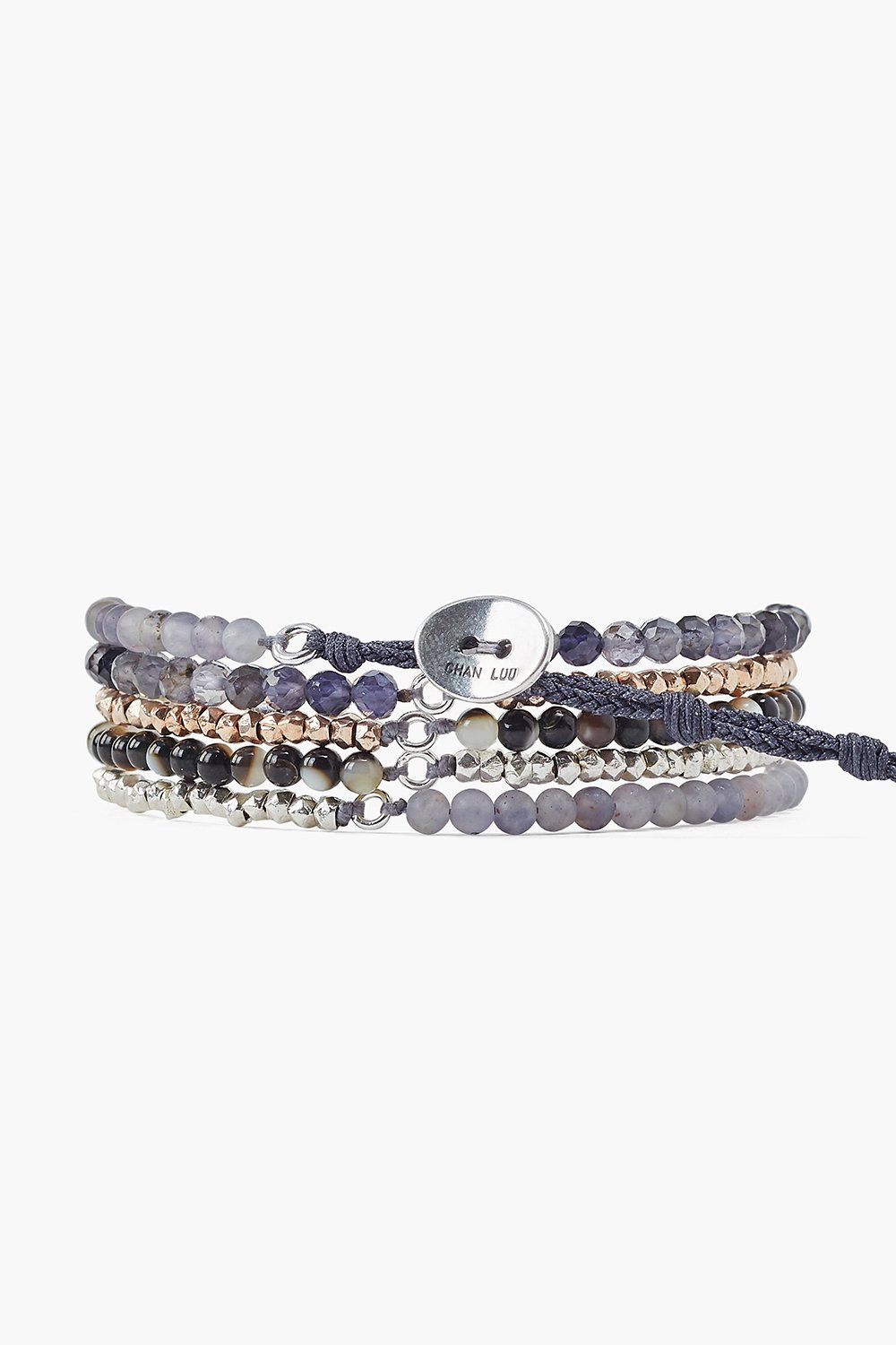 Iolite Mix Naked Five Wrap Bracelet