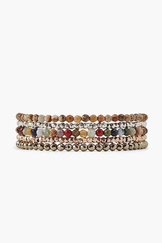Multi Mix Naked Five Wrap Bracelet