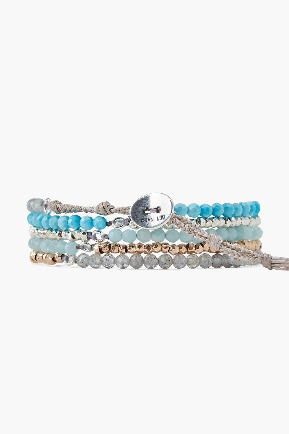 Turquoise Mix Naked Five Wrap Bracelet
