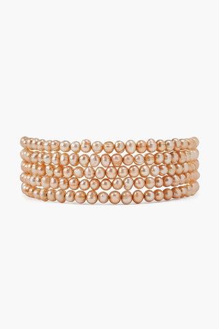 Champagne Pearl Naked Wrap Bracelet
