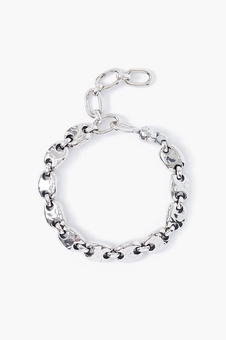 Silver Puff Chain Bracelet