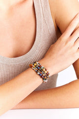 Multi Mix Graduated Naked Wrap Bracelet