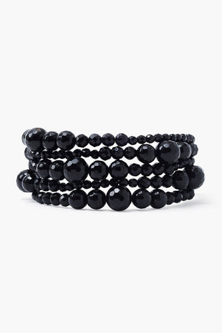 Onyx Graduated Naked Wrap Bracelet