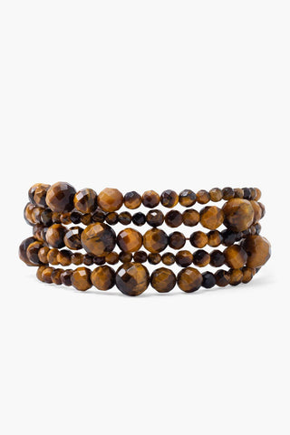 Tiger's Eye Graduated Naked Wrap Bracelet