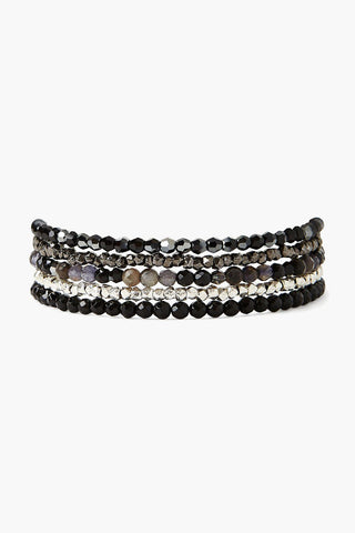 Black Onyx Mix Naked Wrap Bracelet