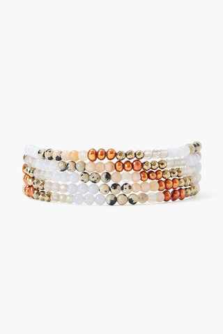 Copper Pearl Mix Gradient Naked Wrap Bracelet