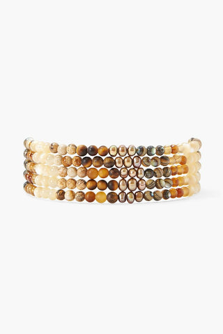 Bronze Pearl Mix Gradient Naked Wrap Bracelet