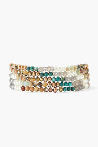 Turquoise Mix Gradient Naked Wrap Bracelet
