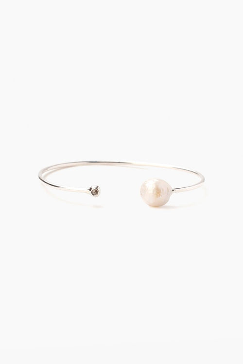 White Pearl Diamond Cuff