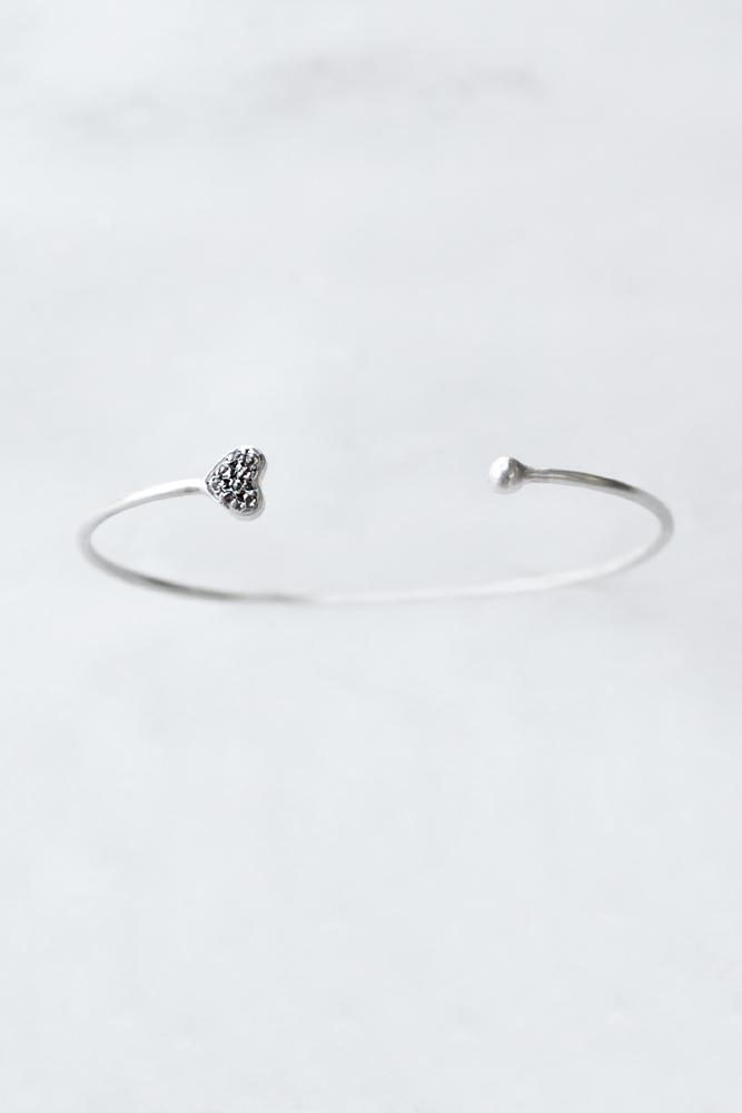 Diamond Heart Cuff