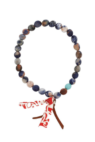 Blue Mix Stretch Bracelet
