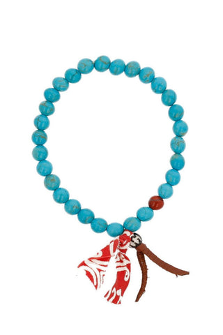 Turquoise Mix Stretch Bracelet