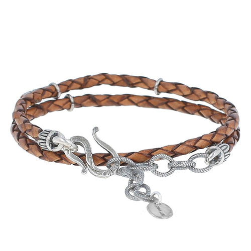 Light Brown Double Wrap Bracelet