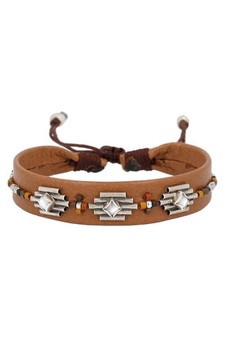 Wood Mix Double Wrap Bracelet