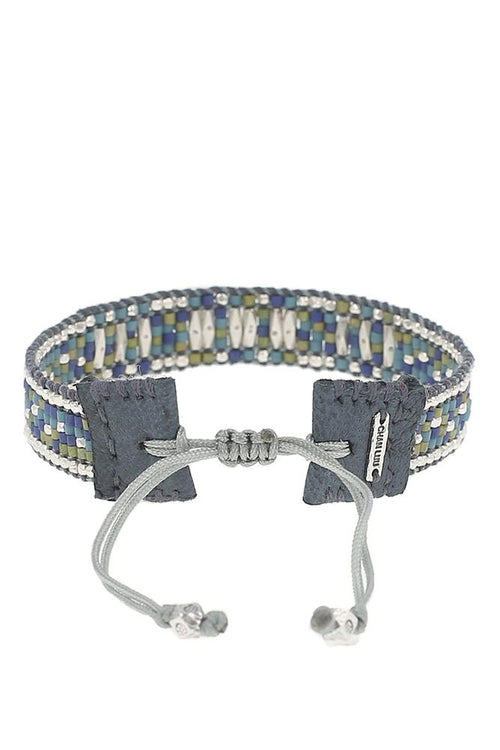 Blue Mix Adjustable Pull-Tie Bracelet
