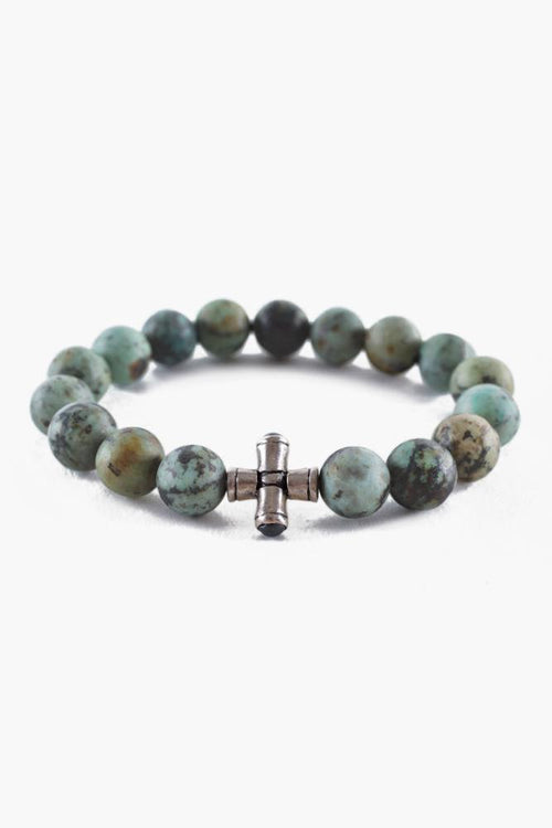 Matte African Turquoise Stretch Bracelet