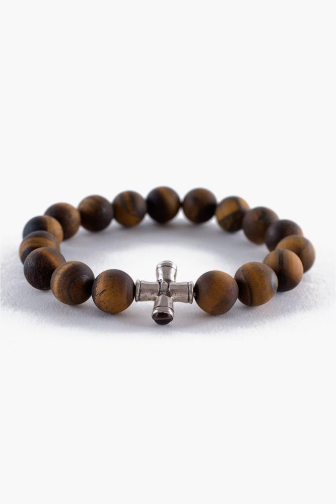 Matte Tiger's Eye Stretch Bracelet