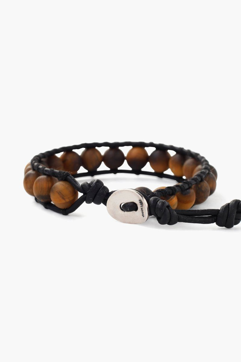 Matte Tiger's Eye Single Wrap Bracelet