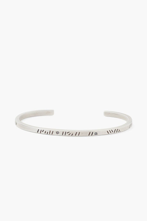 Silver Line Men's Engraved Cuff