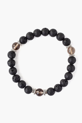Black Lava Stretch Bracelet