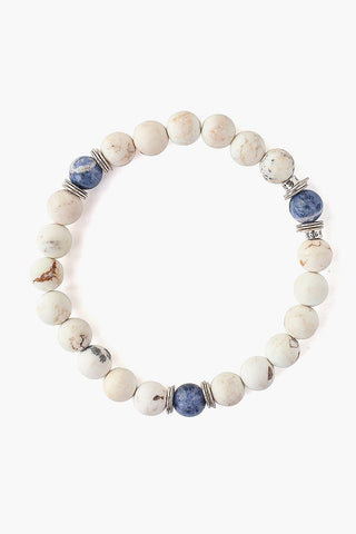 White Magnesite Stretch Bracelet