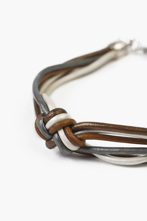 Henna Mix Knotted Leather Bracelet