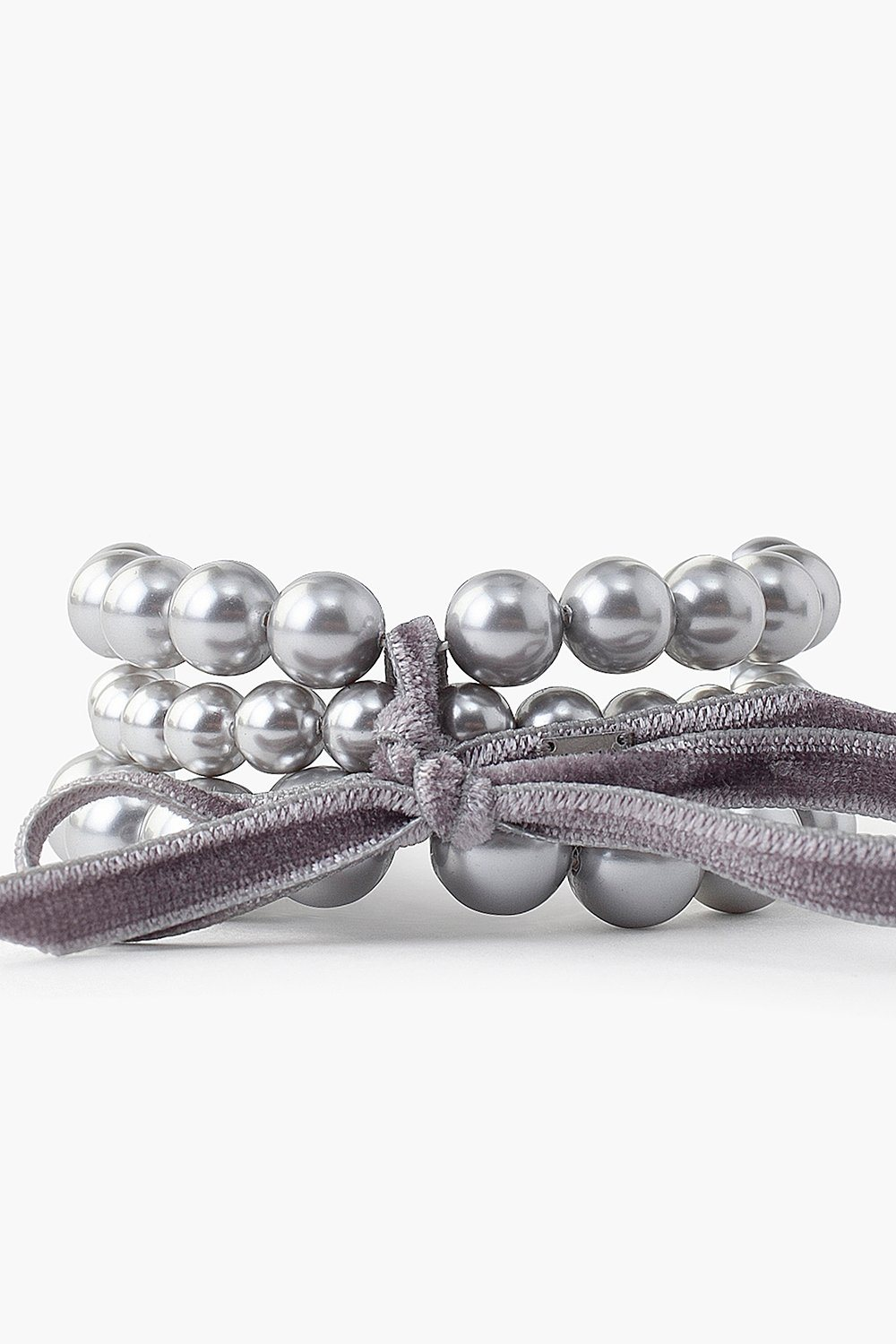 Grey Pearl Holly Bracelet Set