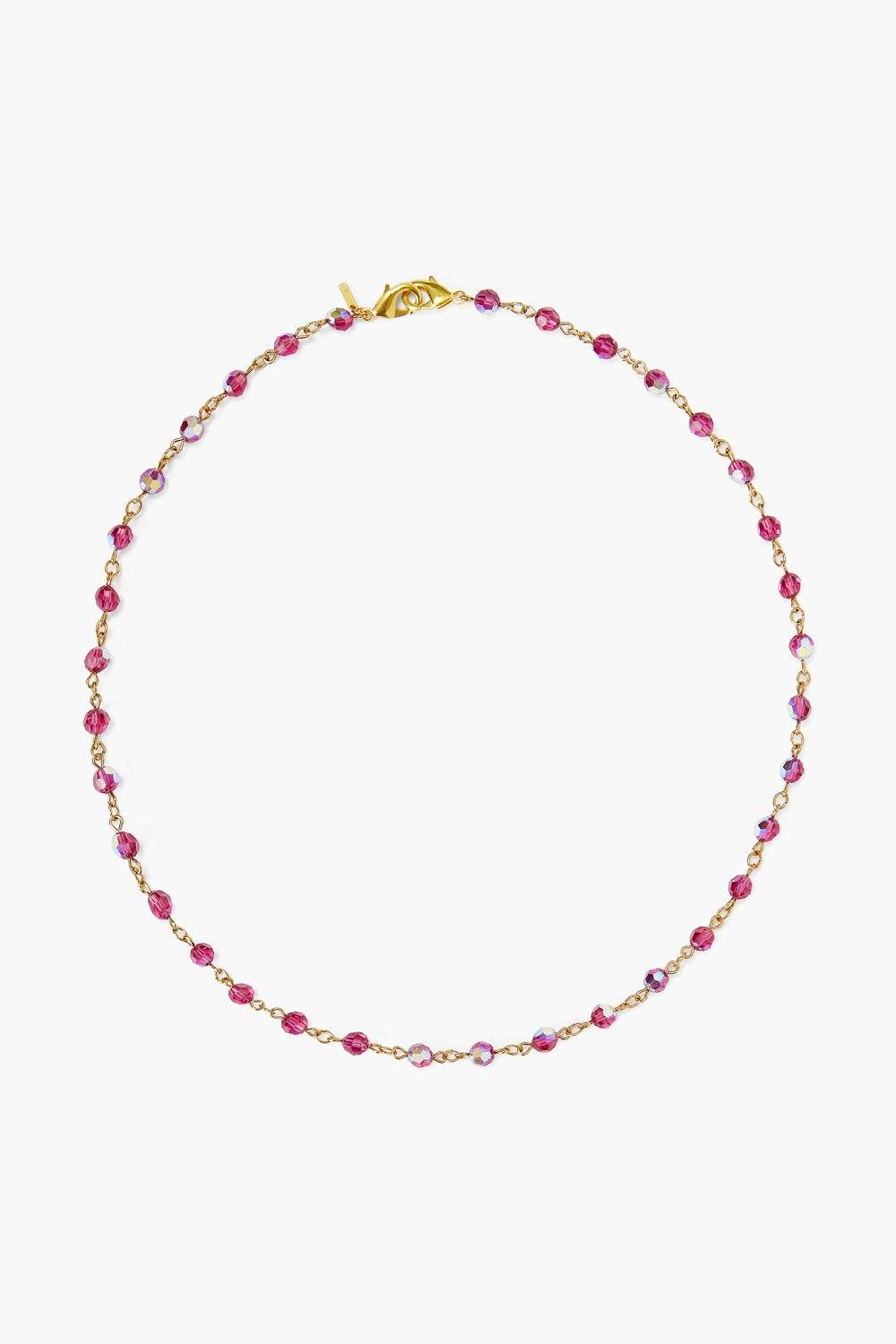 Fuchsia Crystal Mask Chain