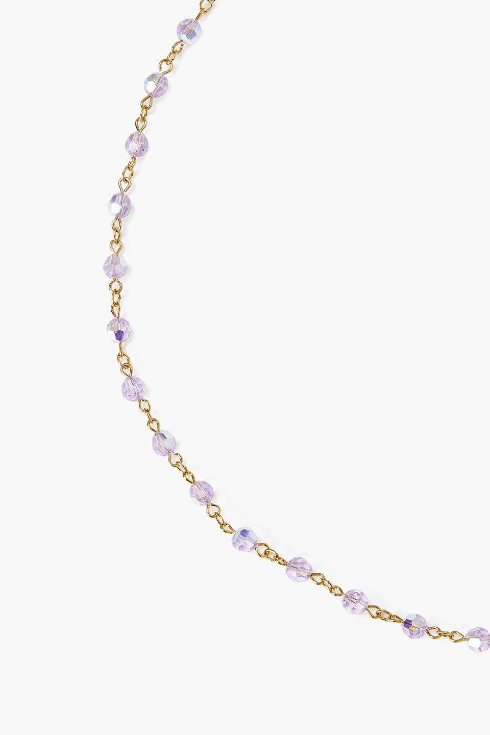 Violet Crystal Mask Chain