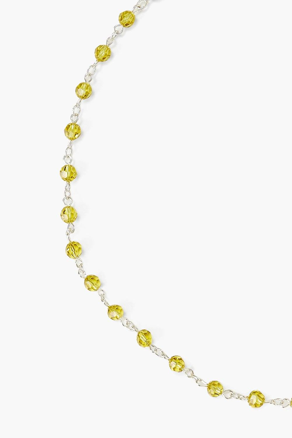 Lime Crystal Mask Chain