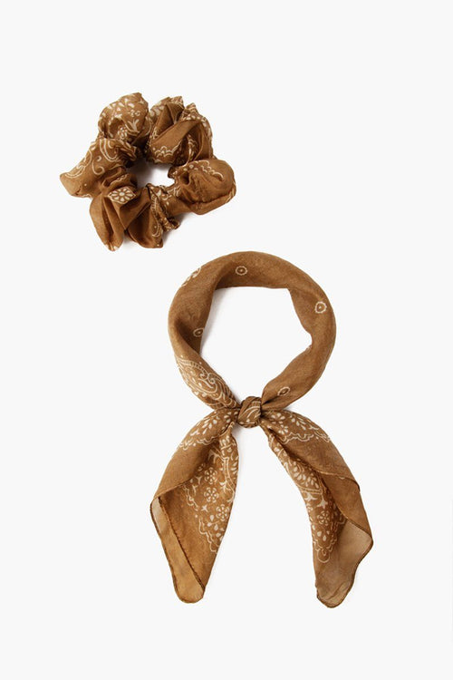 Grass Roots 2-in-1 Scrunchie With Bandana