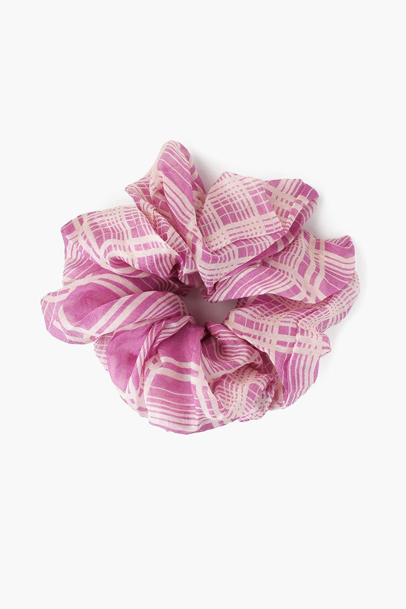 Violet Plaid Scrunchie