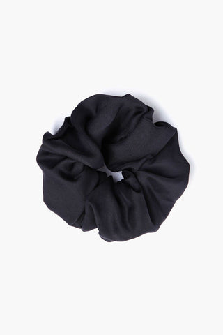 Black Oversized Scrunchie