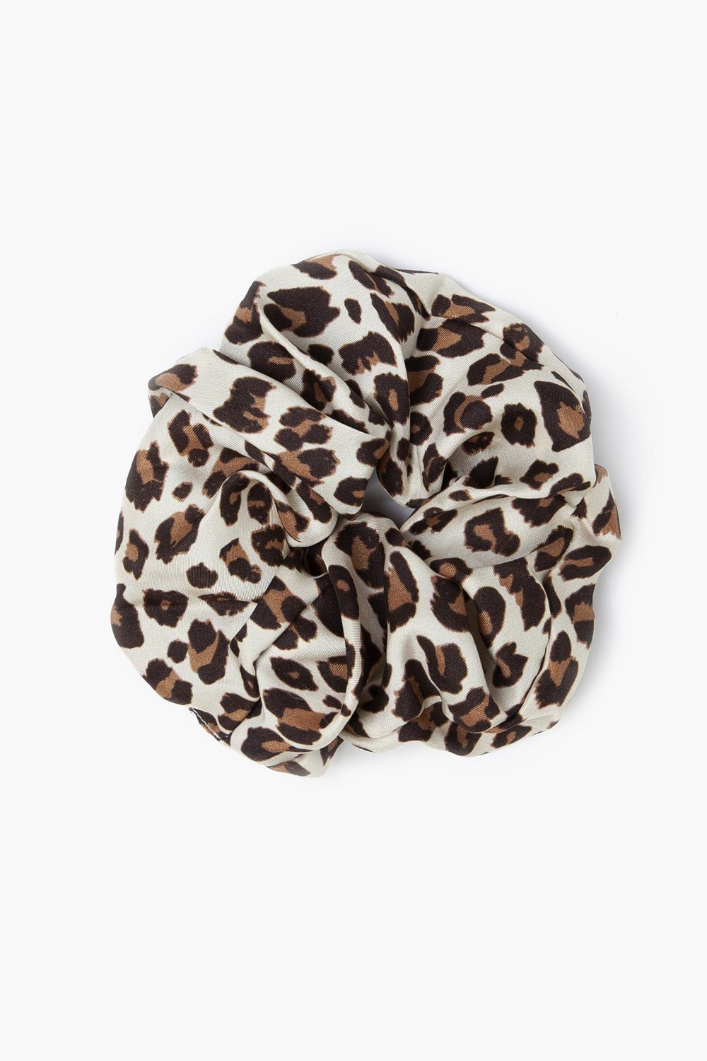 Roasted Pecan Leopard Print Oversized Scrunchie