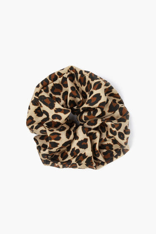 Toasted Nut Leopard Print Oversized Scrunchie