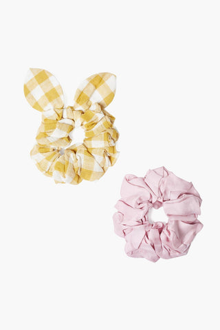 Set of Two Arrowwood Gingham Bow Scrunchies