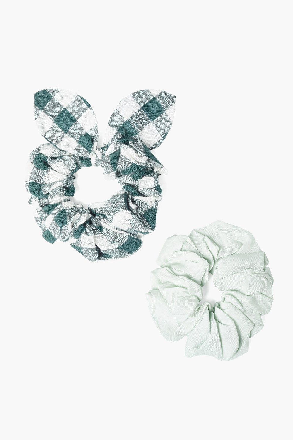 Set of Two Sycamore Gingham Bow Scrunchies