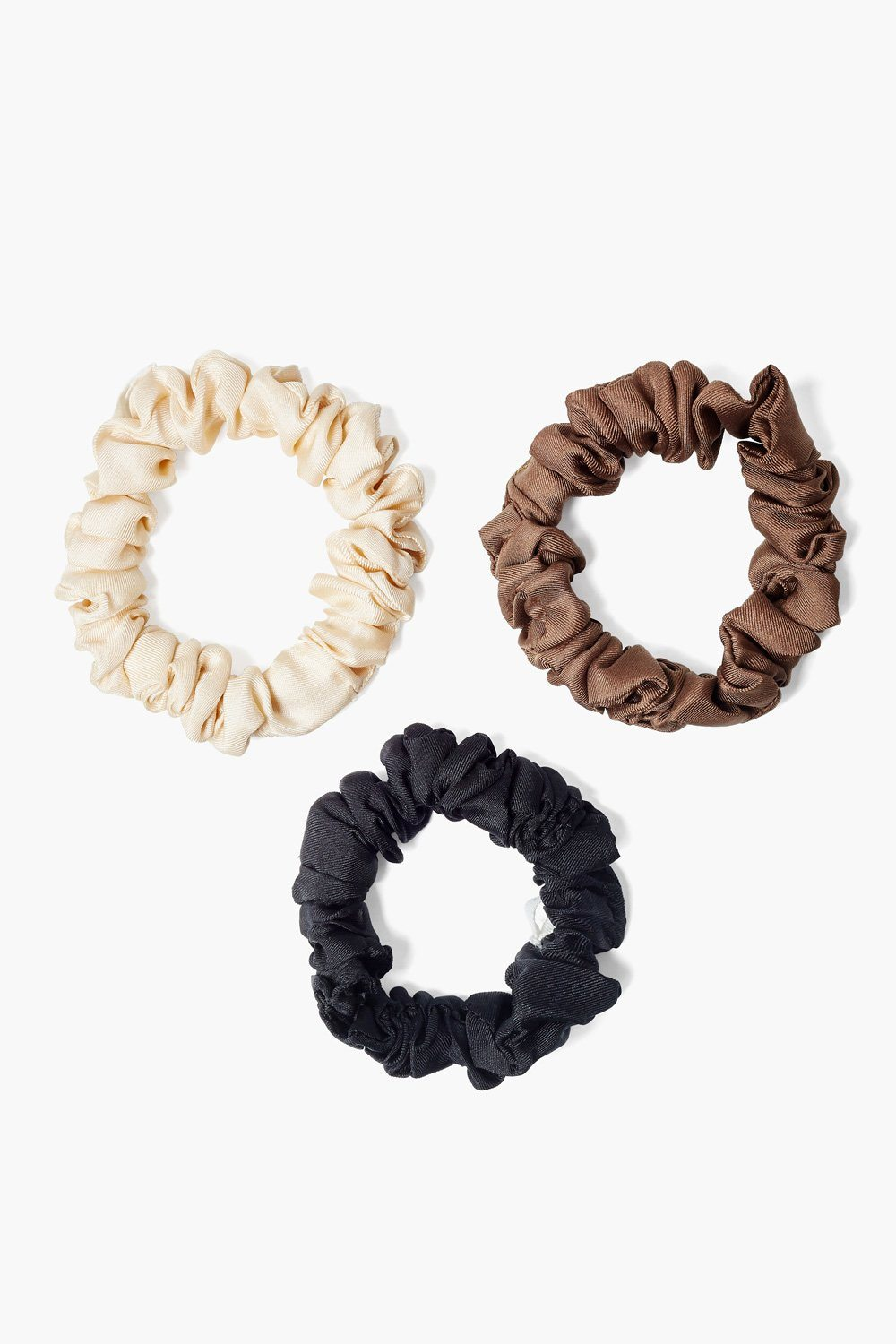 Set of Three Brazilian Sand Silk Scrunchies