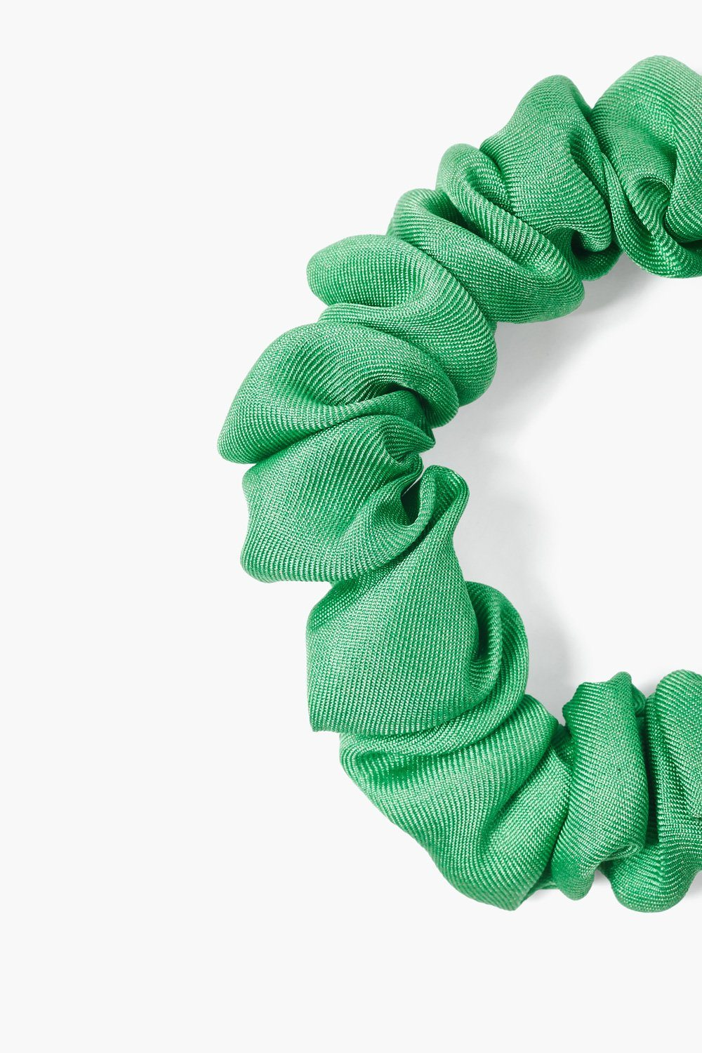 Set of Three Fern Silk Scrunchies