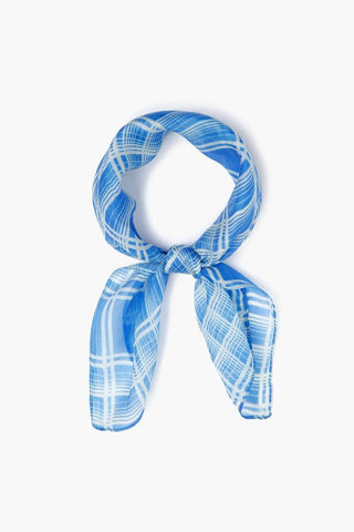Palace Blue Plaid Bandana