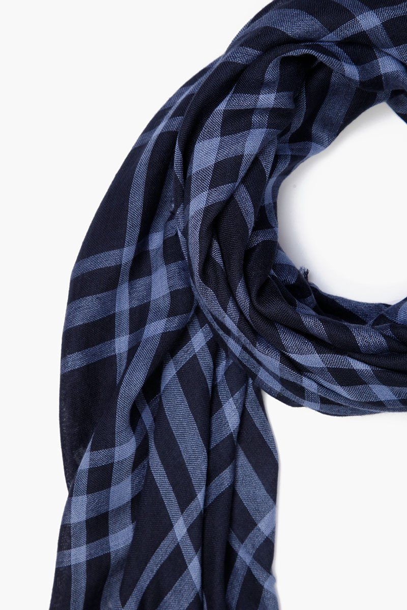 English Manor Plaid Cotton Scarf