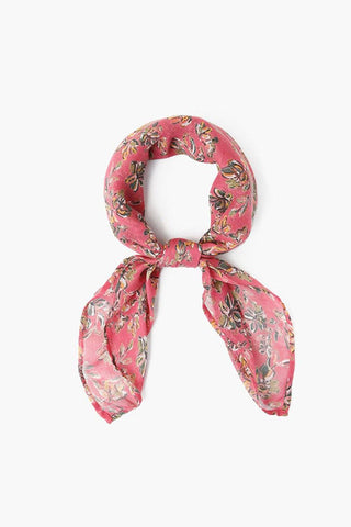 Meadow Mauve Painterly Floral Bandana