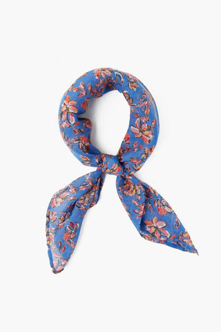Palace Blue Painterly Floral Bandana