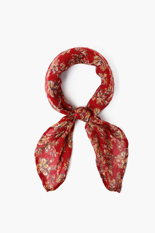 Rio Red Painterly Floral Bandana