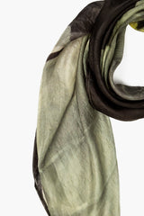 Floating Flower Silk Scarf
