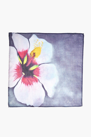 Artist Series Crown Blue Hibiscus Viscose Bandana