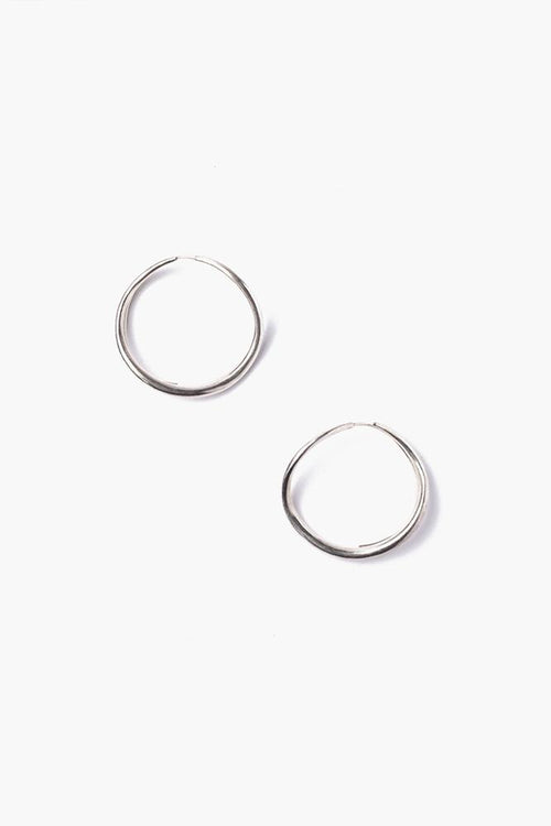 Silver Petite Infinity Hoop Earrings