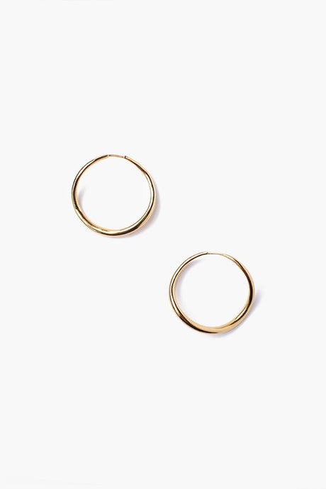 Gold Petite Infinity Hoop Earrings